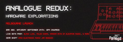 Analogue Redux launches at Bar 303 Melbourne
