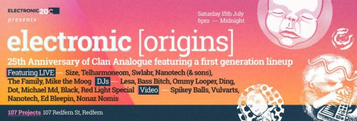 Electronic [Origins] presents Clan Analogue 25th Anniversary Live