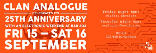 Clan Analogue Celebrates 25 Years with Electronic Weekend at 303